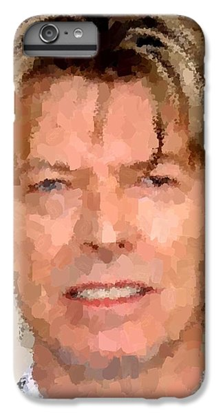 David Bowie Portrait IPhone 6 Plus Case by Samuel Majcen