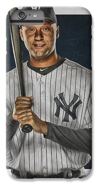 Derek Jeter New York Yankees Art IPhone 6 Plus Case by Joe Hamilton