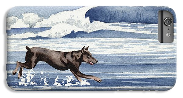 Doberman At The Beach  IPhone 6 Plus Case by David Rogers