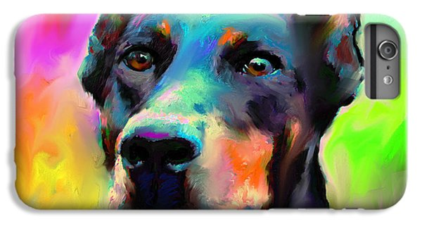 Doberman Pincher Dog Portrait IPhone 6 Plus Case by Svetlana Novikova