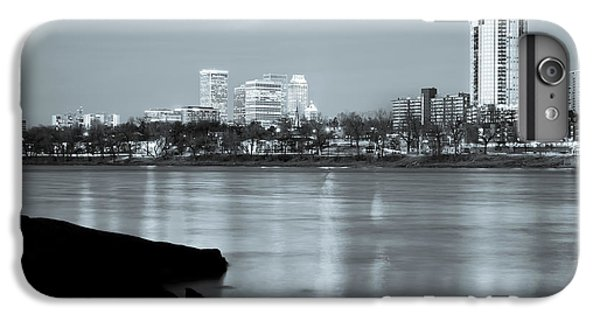 Downtown Tulsa Oklahoma - University Tower View - Black And White IPhone 6 Plus Case by Gregory Ballos