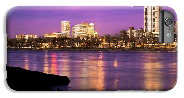 Downtown Tulsa Oklahoma - University Tower View - Purple Skies IPhone 6 Plus Case by Gregory Ballos