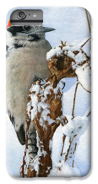 Downy Woodpecker  IPhone 6 Plus Case by Ken Everett