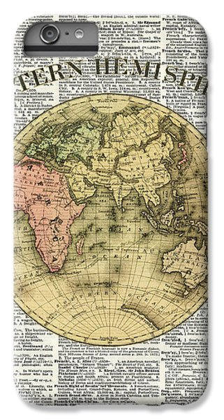 Eastern Hemisphere Earth Map Over Dictionary Page IPhone 6 Plus Case by Jacob Kuch