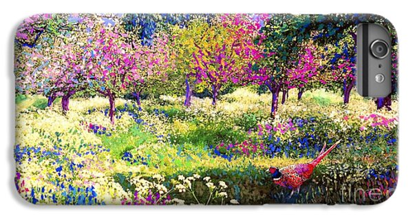 Echoes From Heaven, Spring Orchard Blossom And Pheasant IPhone 6 Plus Case by Jane Small