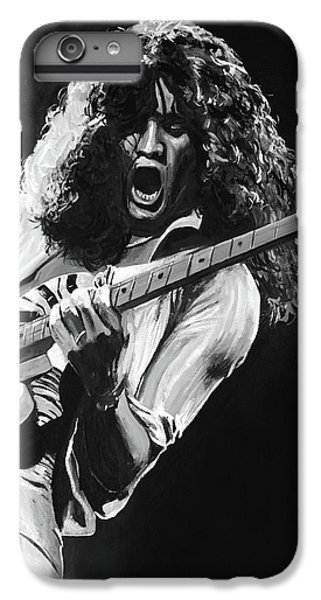 Eddie Van Halen - Black And White IPhone 6 Plus Case by Tom Carlton