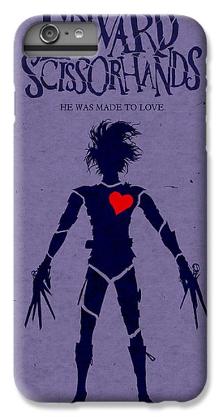 Edward Scissorhands Alternative Poster IPhone 6 Plus Case by Christopher Ables