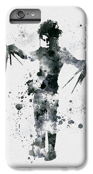 Edward Scissorhands IPhone 6 Plus Case by Rebecca Jenkins