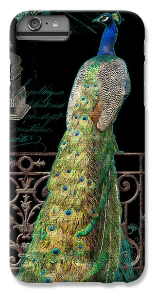 Elegant Peacock Iron Fence W Vintage Scrolls 4 IPhone 6 Plus Case by Audrey Jeanne Roberts