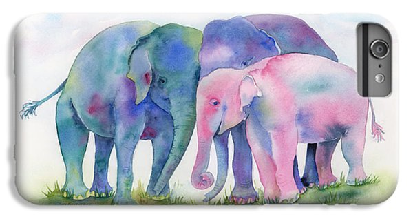 Elephant Hug IPhone 6 Plus Case by Amy Kirkpatrick