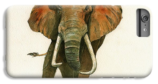 Elephant Painting           IPhone 6 Plus Case by Juan  Bosco