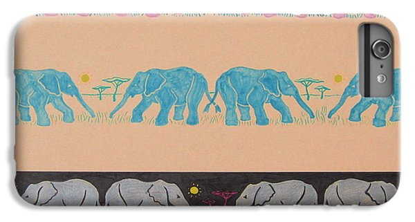 Elephant Pattern IPhone 6 Plus Case by John Keaton