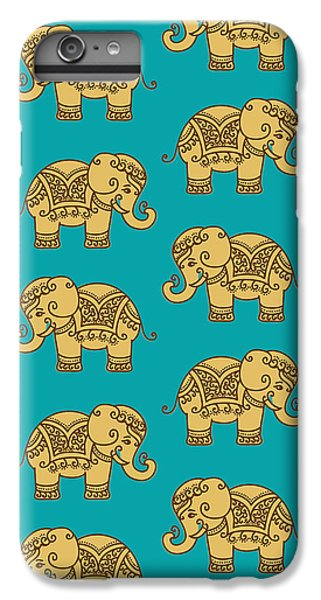 Elephant Pattern IPhone 6 Plus Case by Krishna Kharidehal