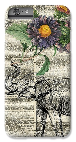 Elephant With Flowers IPhone 6 Plus Case by Jacob Kuch
