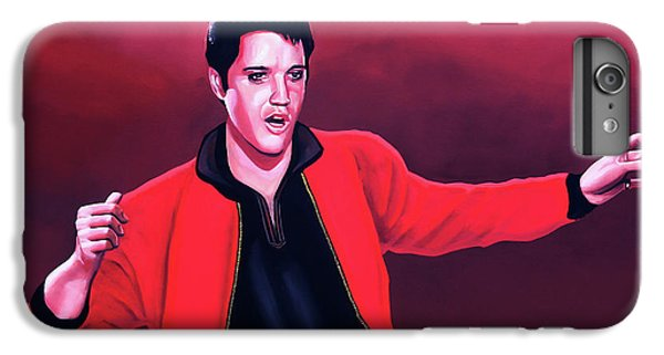 Elvis Presley 4 Painting IPhone 6 Plus Case by Paul Meijering