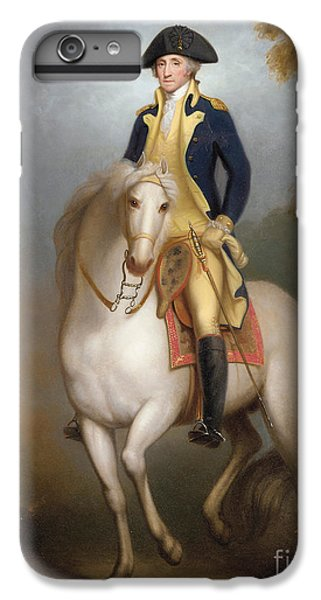 Equestrian Portrait Of George Washington IPhone 6 Plus Case by Rembrandt Peale