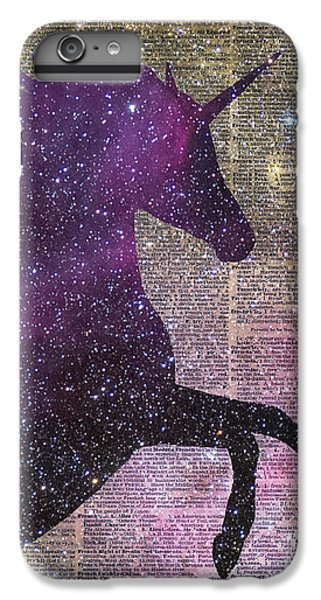 Fantasy Unicorn In The Space IPhone 6 Plus Case by Jacob Kuch