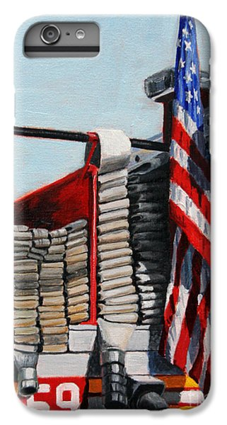 Fdny Engine 59 American Flag IPhone 6 Plus Case by Paul Walsh