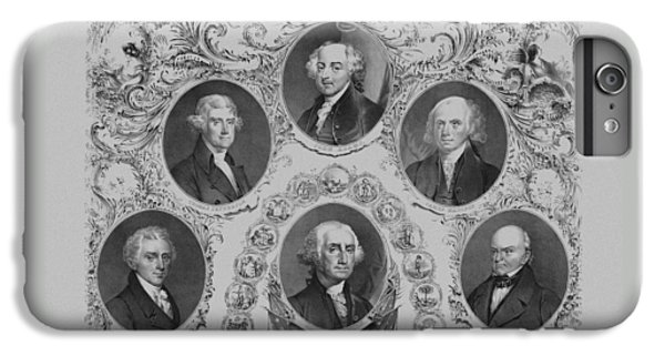 First Six U.s. Presidents IPhone 6 Plus Case by War Is Hell Store