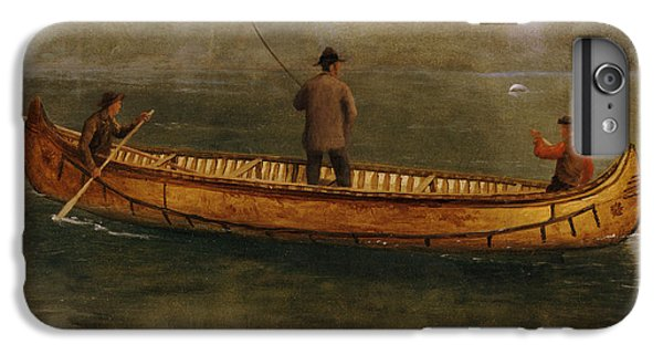Fishing From A Canoe IPhone 6 Plus Case by Albert Bierstadt