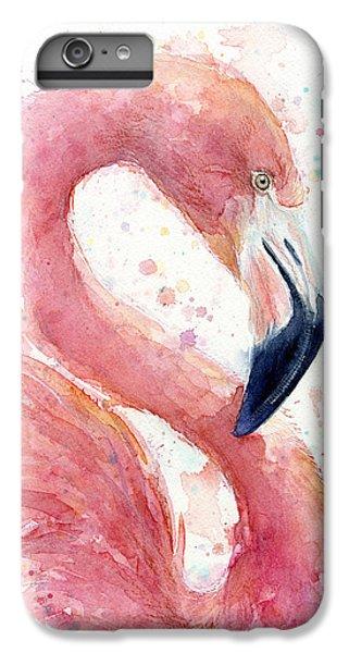 Flamingo - Facing Right IPhone 6 Plus Case by Olga Shvartsur
