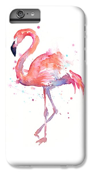 Flamingo Watercolor IPhone 6 Plus Case by Olga Shvartsur