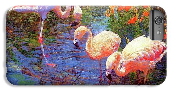 Flamingos, Tangerine Dream IPhone 6 Plus Case by Jane Small
