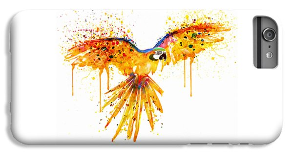 Flying Parrot Watercolor IPhone 6 Plus Case by Marian Voicu