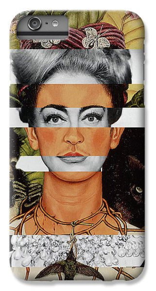 Frida Kahlo And Joan Crawford IPhone 6 Plus Case by Luigi Tarini