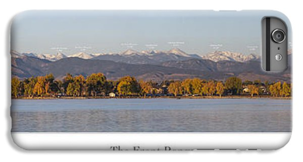 Front Range With Peak Labels IPhone 6 Plus Case by Aaron Spong