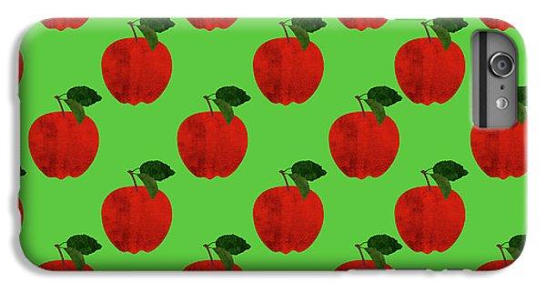 Fruit 02_apple_pattern IPhone 6 Plus Case by Bobbi Freelance