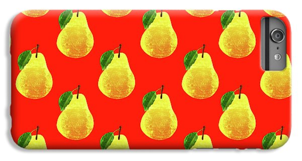 Fruit 03_pear_pattern IPhone 6 Plus Case by Bobbi Freelance