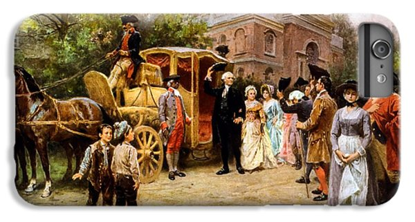 George Washington Arriving At Christ Church IPhone 6 Plus Case by War Is Hell Store