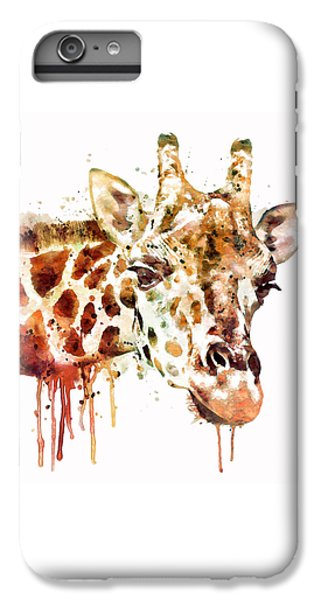 Giraffe Head IPhone 6 Plus Case by Marian Voicu