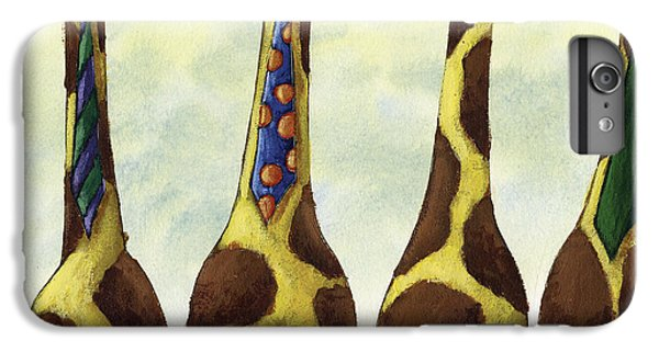 Giraffe Neckties IPhone 6 Plus Case by Christy Beckwith