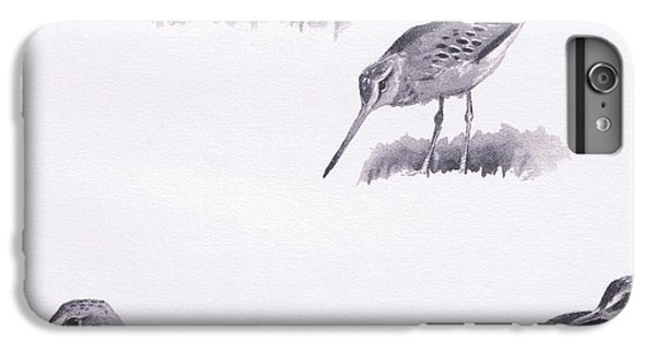 Godwits And Green Sandpipers IPhone 6 Plus Case by Archibald Thorburn