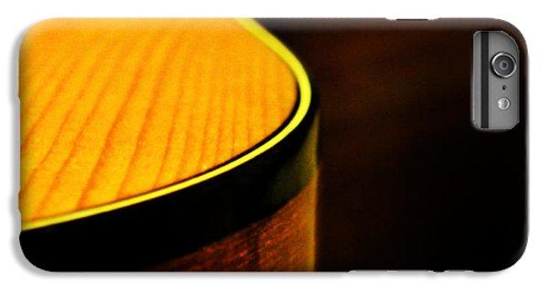 Golden Guitar Curve IPhone 6 Plus Case by Deborah Smith