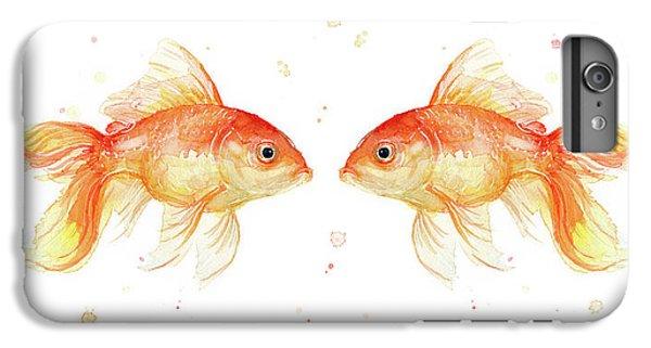 Goldfish Love Watercolor IPhone 6 Plus Case by Olga Shvartsur