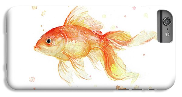 Goldfish Painting Watercolor IPhone 6 Plus Case by Olga Shvartsur