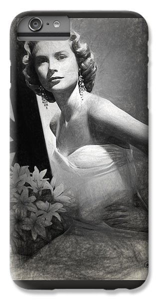 Grace Kelly Drawing IPhone 6 Plus Case by Quim Abella