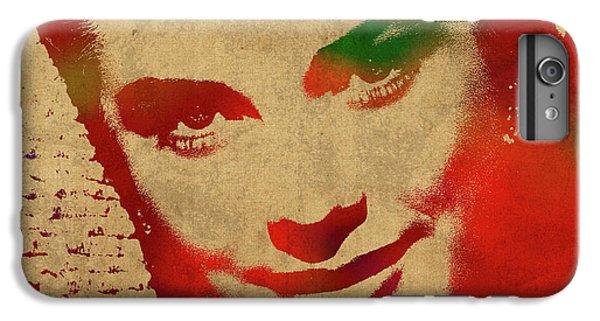 Grace Kelly Watercolor Portrait IPhone 6 Plus Case by Design Turnpike
