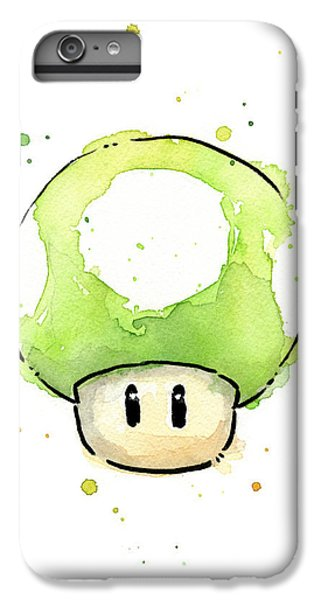 Green 1up Mushroom IPhone 6 Plus Case by Olga Shvartsur