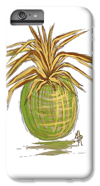 Green Gold Pineapple Painting Illustration Aroon Melane 2015 Collection By Madart IPhone 6 Plus Case by Megan Duncanson