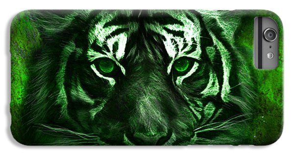 Green Tiger IPhone 6 Plus Case by Michael Cleere