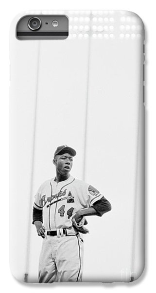 Hank Aaron On The Field, 1958 IPhone 6 Plus Case by The Phillip Harrington Collection