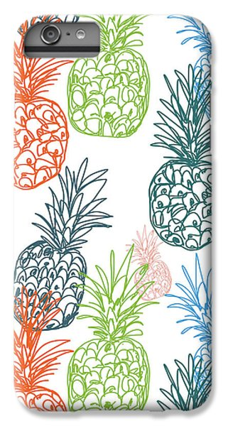 Happy Pineapple- Art By Linda Woods IPhone 6 Plus Case by Linda Woods