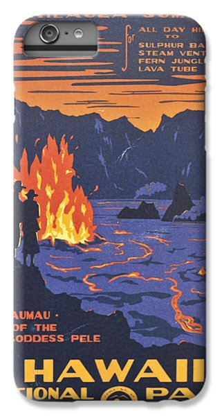 Hawaii Vintage Travel Poster IPhone 6 Plus Case by Georgia Fowler