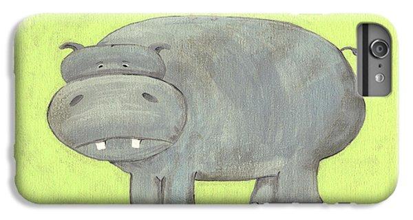 Herbert Hippo Nursery Art IPhone 6 Plus Case by Katie Carlsruh