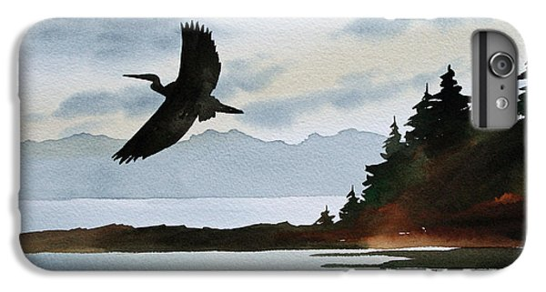 Heron Silhouette IPhone 6 Plus Case by James Williamson
