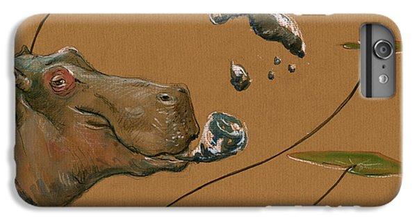 Hippo Bubbles IPhone 6 Plus Case by Juan  Bosco